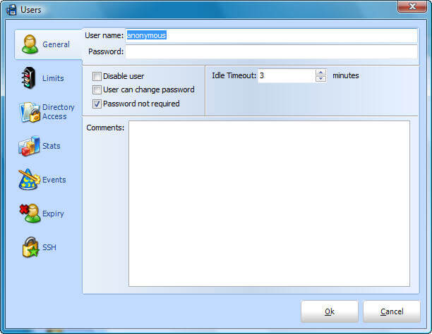 User Configuration Screen